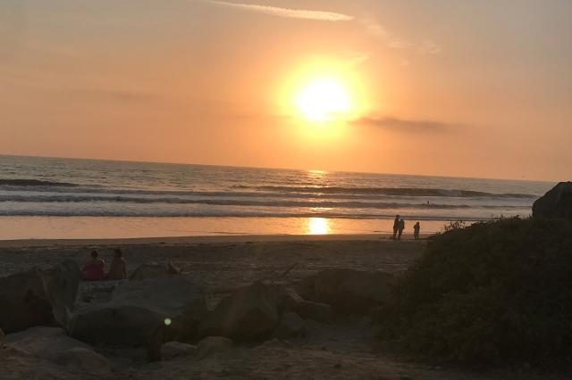 Couche de soleil a Emma Wood State beach
