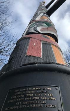 Plus haut totem du monde parc Beacon Hill - Victoria Canada