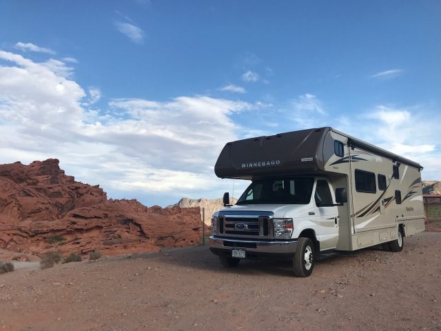 Notre motorisé dans Valley of Fire, Nevada