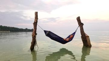 Hamac sur l'eau Koh Rong